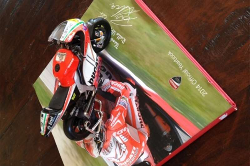 Ducati year book and scale model for sale 2014