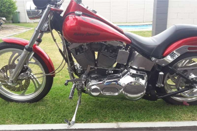 Harley Davidson Custom Softail complete with Quick load trailer 2004