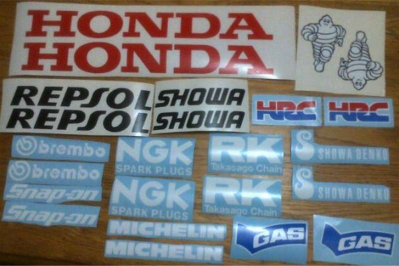 Honda Repsol graphics decals stickers sets 0