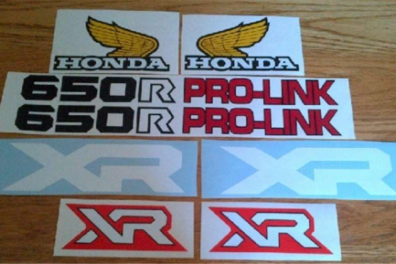 Honda XR and XL decals stickers for early 1980's motorcycle 0