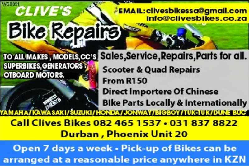 Splash Bike Repairs/Engine Repairs AT Clives Bikes 0