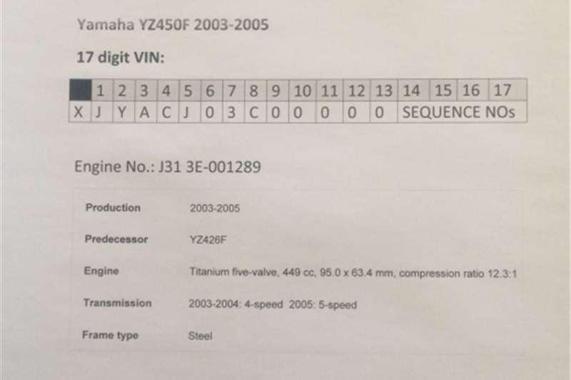 Yamaha YZ450F (2003 2005) C.D.I. Unit Assy  complete with Igniti 0