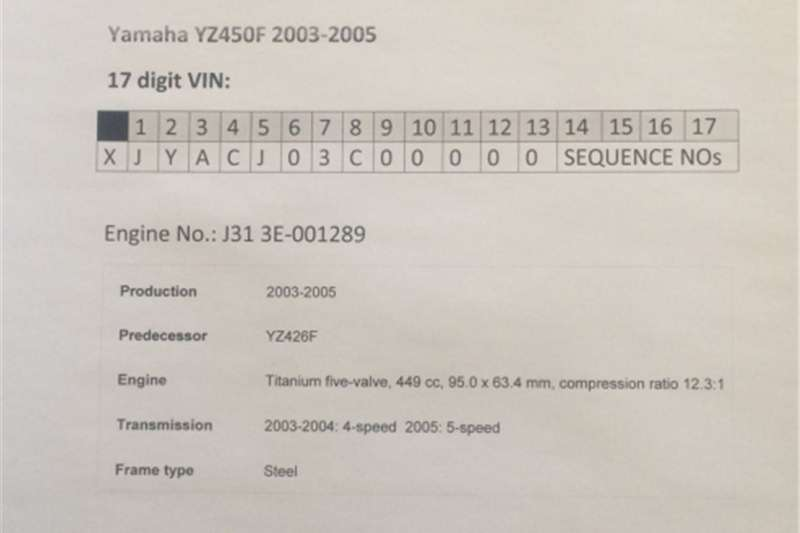 Yamaha YZ450F (2003 2005) Titanium Five Valve Oil Feeder Line 0