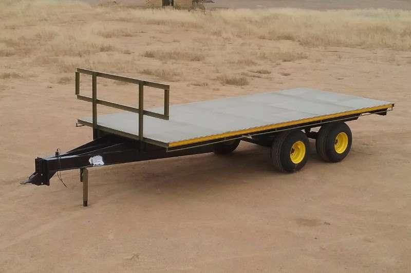 YSTERVARK DUBBEL AS PLATBAKWA Farm trailers