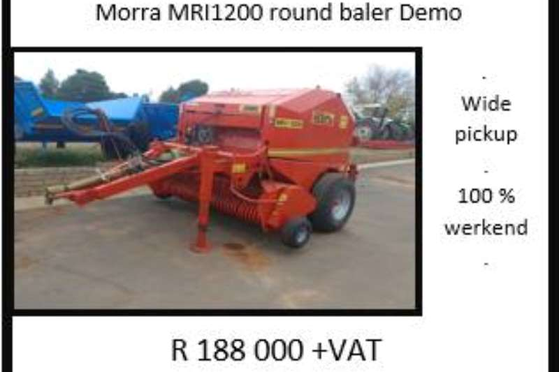 Morra Balers Morra MRI 1200 Baler Hay and forage