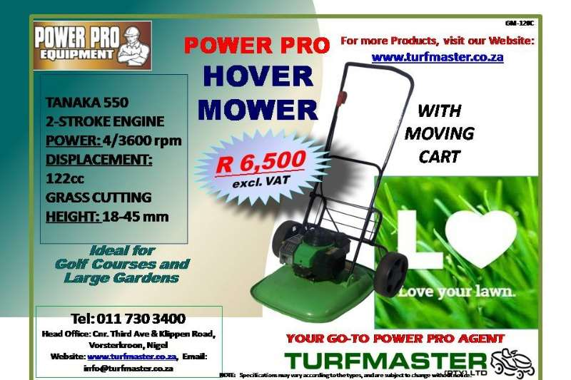 POWER PRO HOVER MOWER WITH MOVING CART Lawn equipment