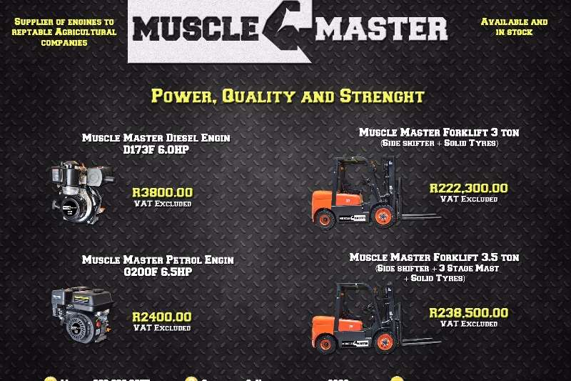 MUSCLE MASTER FORKLIFTS AND ENJINS Machinery
