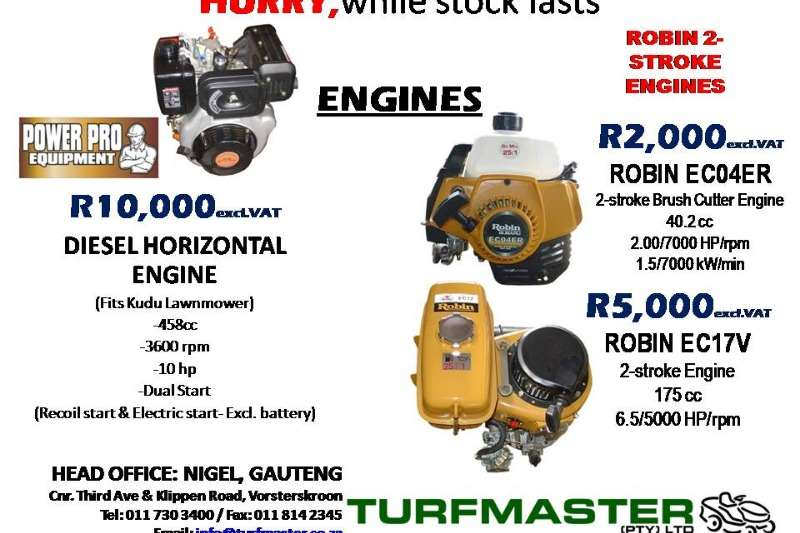VARIOUS ENGINES FOR SALE Other