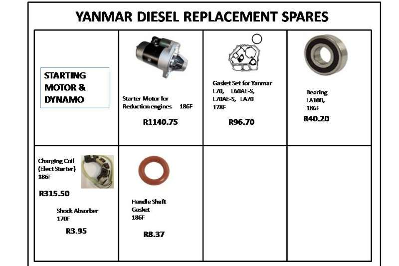 YANMAR DIESEL REPLACEMENT SPARES Other