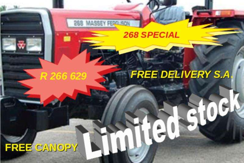 Massey Ferguson Two wheel drive tractors Limited stock special - 268 2WD 45KW NEW Tractors