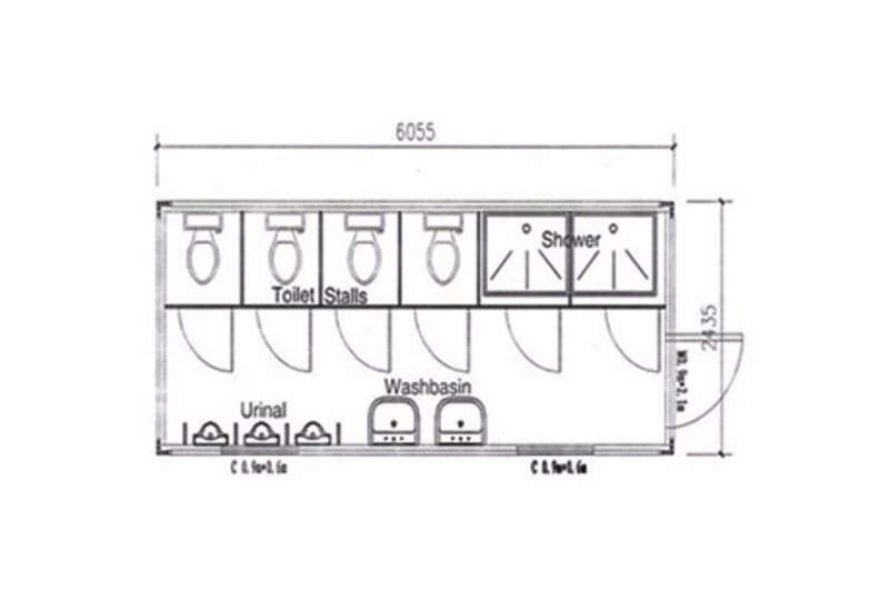 Sino Plant Container   Male Ablution Containers