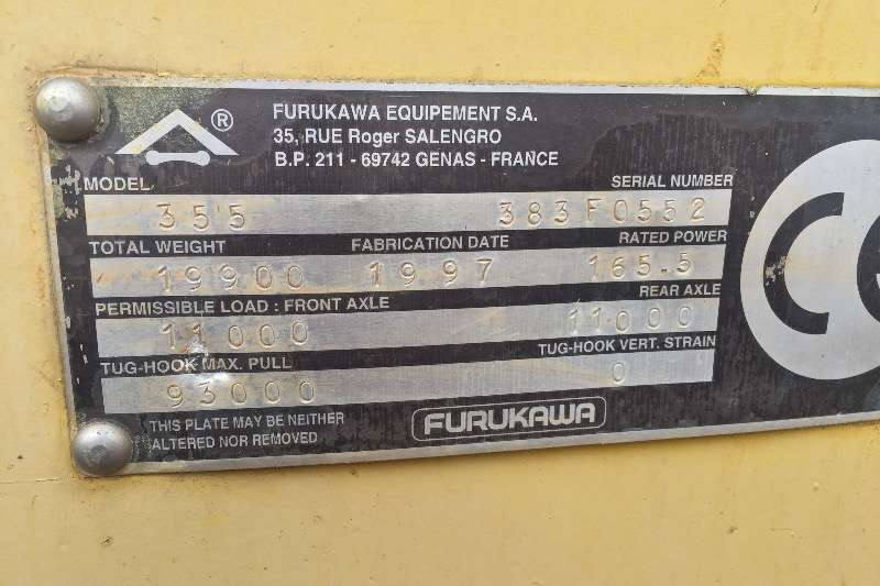 Furukawa Furukawa FL355 and FL345 front loaders FELs
