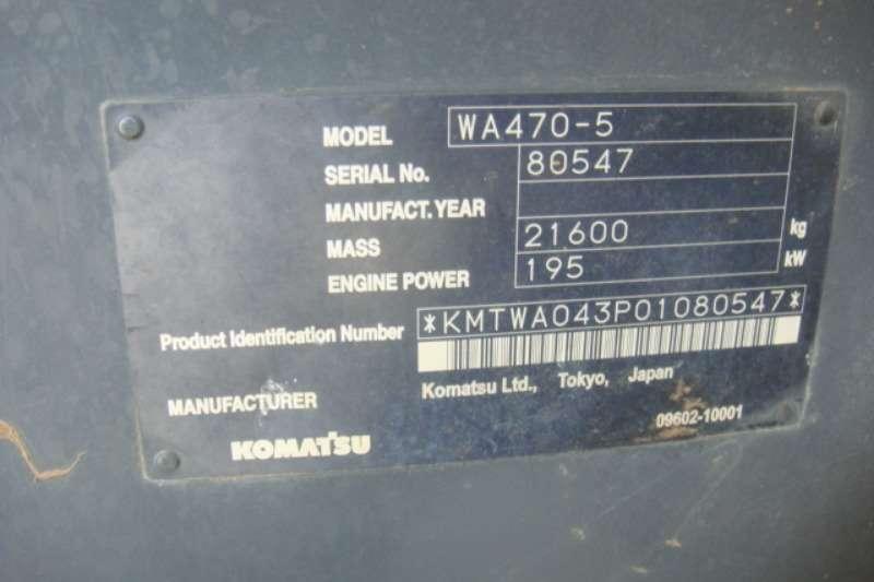 Komatsu WA 470 5 Loaders