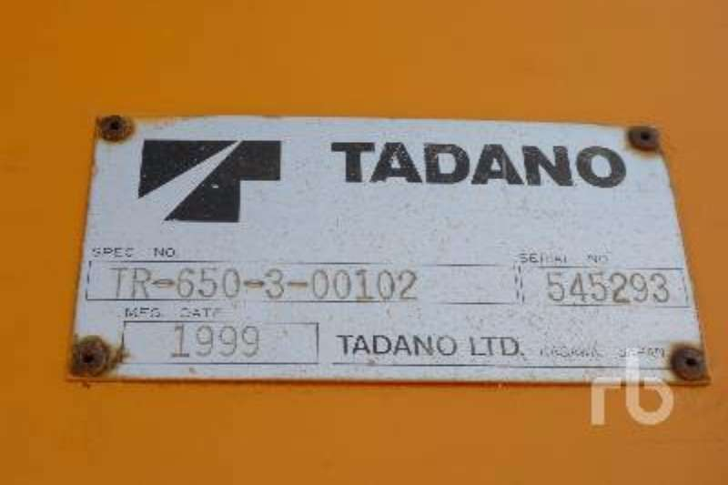 Grove Tadano TR650XL 3 Rough terrain crane