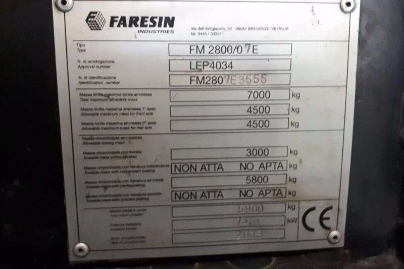 Other Faresin Telehandler Telescopic handlers