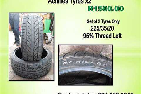 ACHILLES X2 TYRES 225/35/20