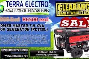 Powermaster7,5kva Generator