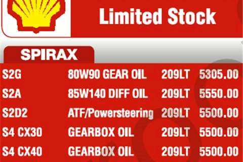 S4 CX30 Gearbox Oil - 209LT SHELL SPIRAX - Stock Clearance. Limited Stock Available.