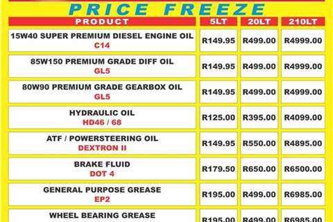 Technalube Oils. High Virgin Oil Hydraulic Oil Hd46/68 - 210LT