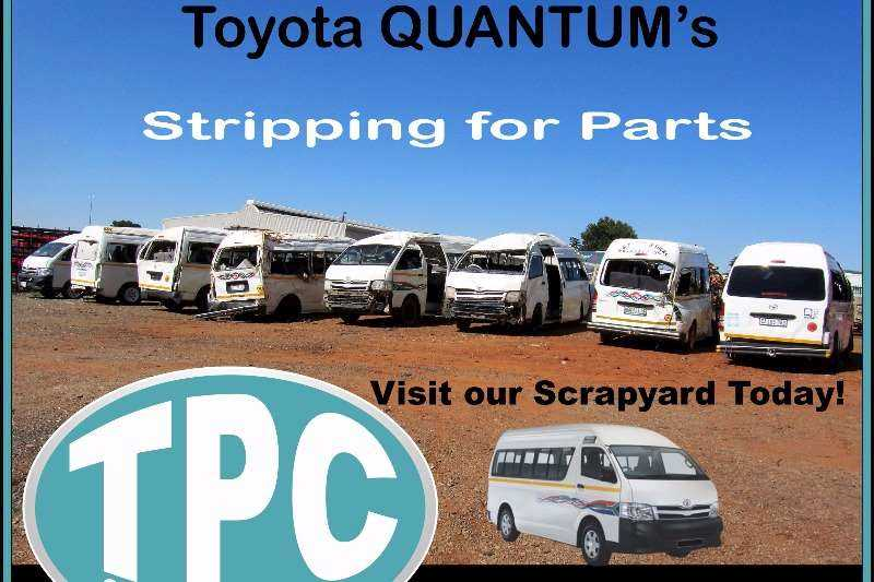 TOYOTA QUANTUM's Stripping For Spare Parts In TPC Scrapyard - New Stock Just Arrived!