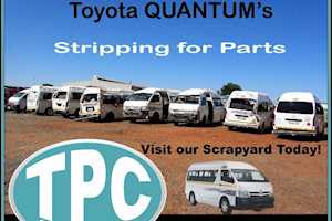 TOYOTAQUANTUM's Stripping For Spare Parts In TPC Scrapyard - New Stock Just Arrived!