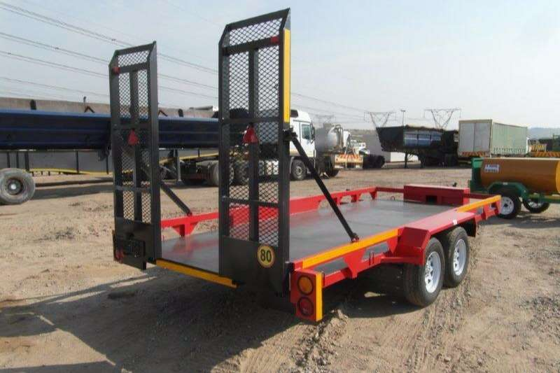 Double Axle Car Trailer With Ramps Car trailer