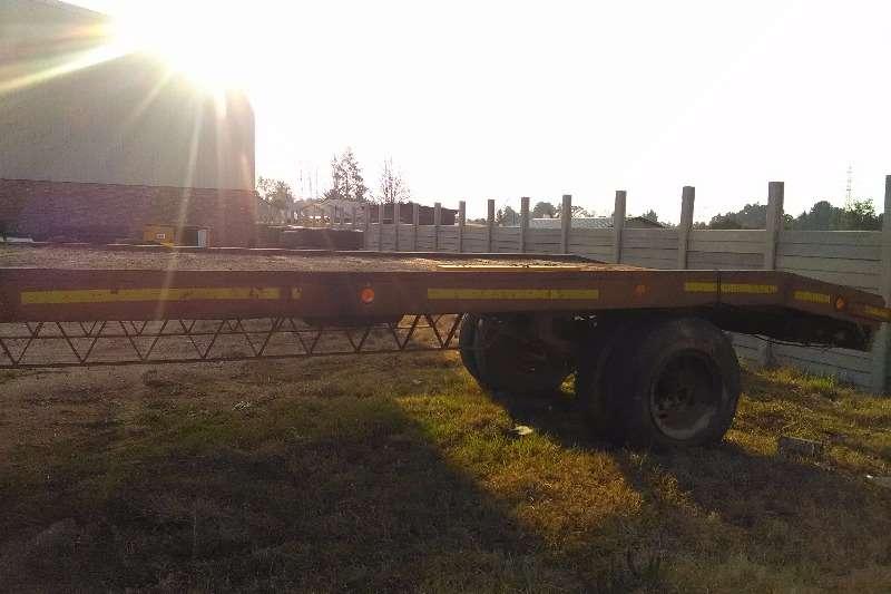 single axle step deck Farm trailer