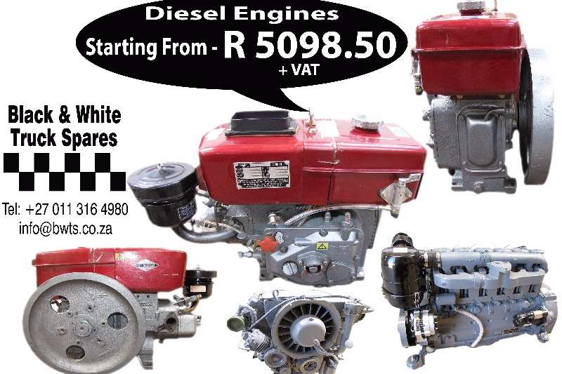 Other Diesel Engines starting From R5098.50 Spares