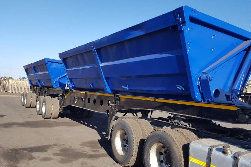 Afrit 2010 AFRIT SIDETIPPER 45 cube FULLY REFURBISHED Trailers