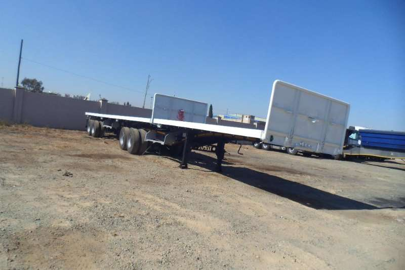 Afrit 2013 6X12 FLATDECK SUPER LINK WITH CONTAINER LOCK Trailers