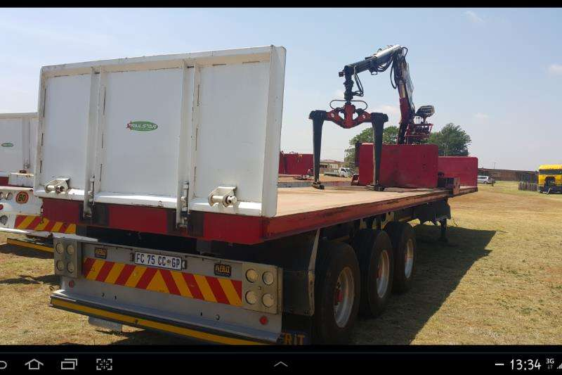 Trailers Afrit Brick trailer 14m with kennis  14t/m rolling crane 2012