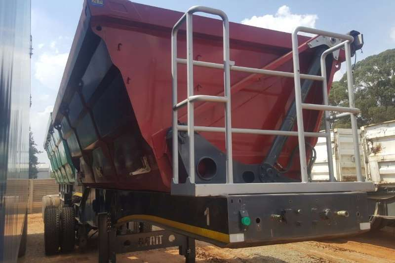 Afrit Double axle 12.5 m³ Side Tipper Front Section Trailers