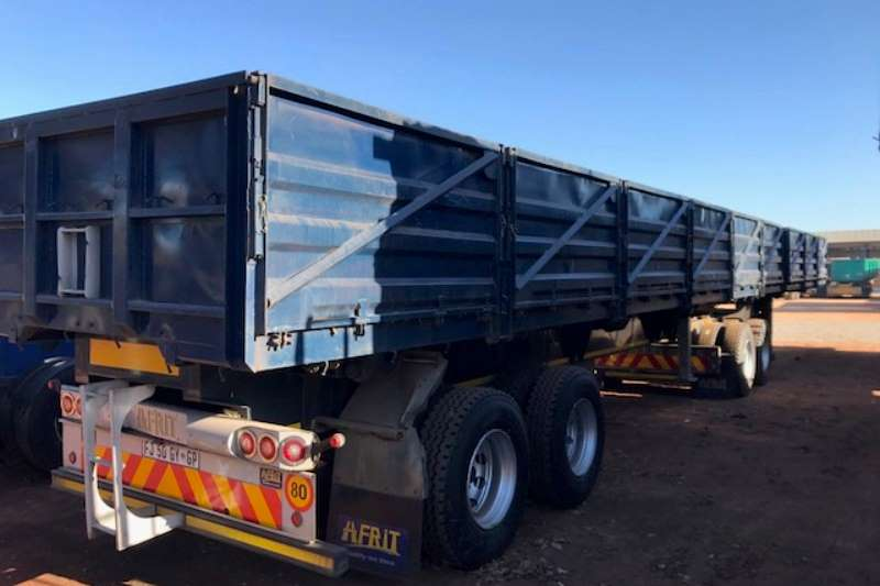 Afrit Superlink Superlink Dropside Side Tipper Trailer Trailers