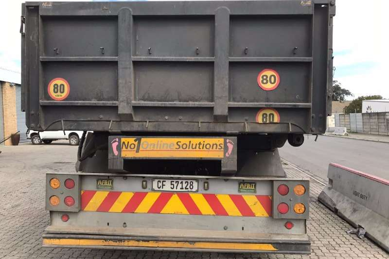 Afrit Tipping bulk trailer Afrit Dropside Side Tipper 33.5 Ton Payload Trailers