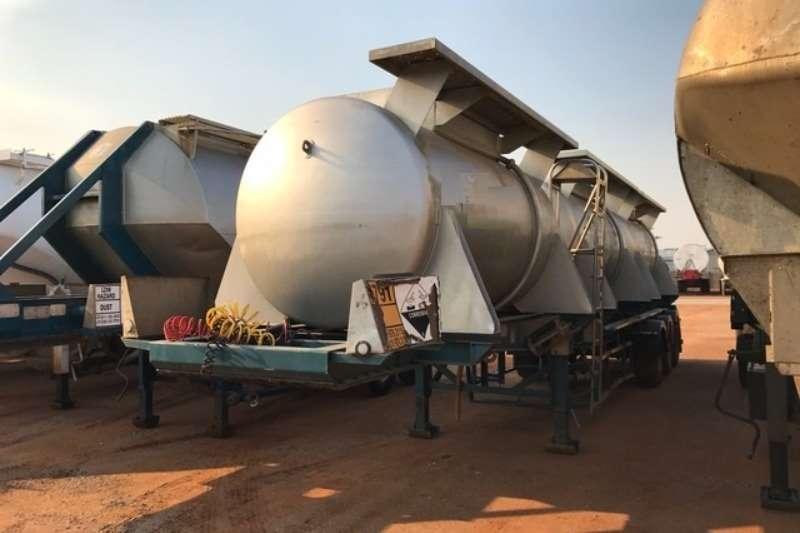 GRW Alluminium tanker 8 500L Hydrochloric acid Pods available Trailers
