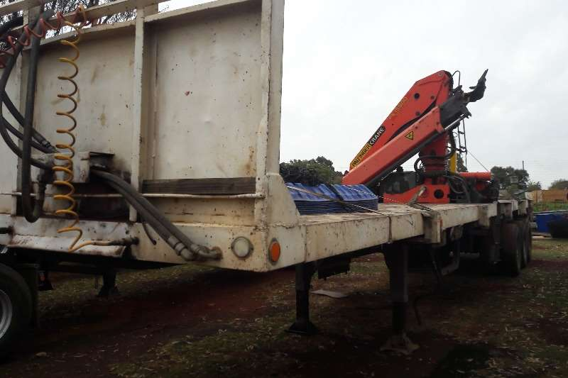 Hendred Brick trailer Used Tri Axle Brick Trailer with Crane Available Trailers