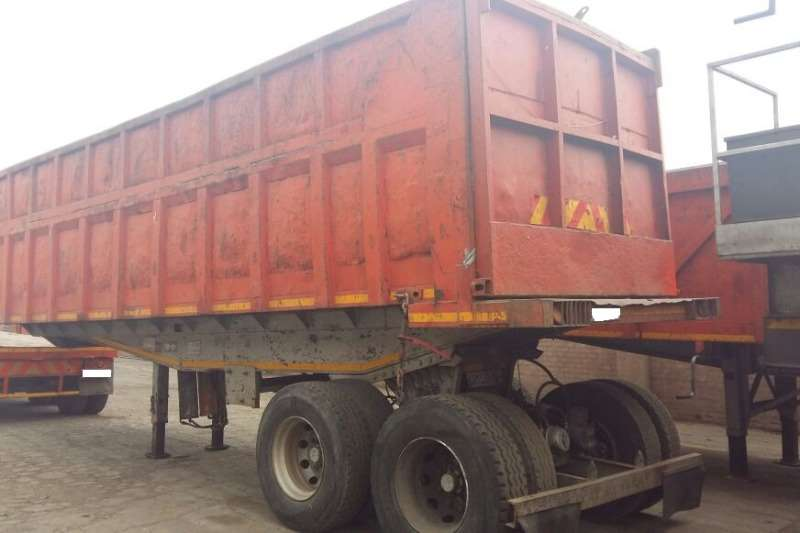 Henred Box body Used Double Axle 22m3 Box Tipper Available Trailers