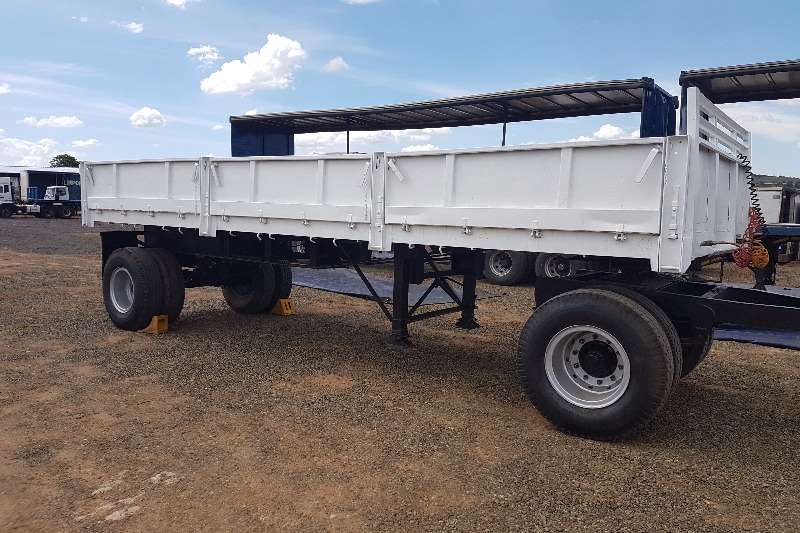 With Drop Axle Semi : Henred drop side drawbar single axles axle