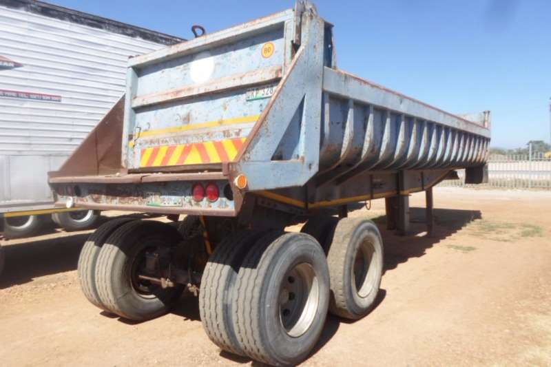 Henred End tipping 20Kub Henred Copelan Tipper Semi Trailers