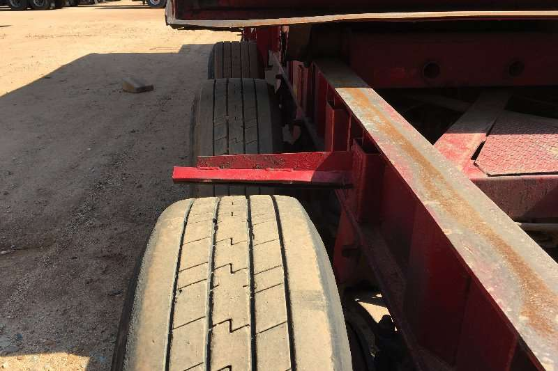 Henred End tipping 3 Axle Sliding Bin Sloper Trailers