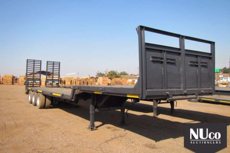Trailers Homebuilt Home-Built Step deck Tri Axle with spring loaded r 2008