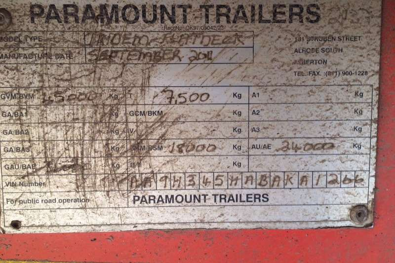 Paramount Flat deck Used 13m Tri Axle Trailer Available Trailers