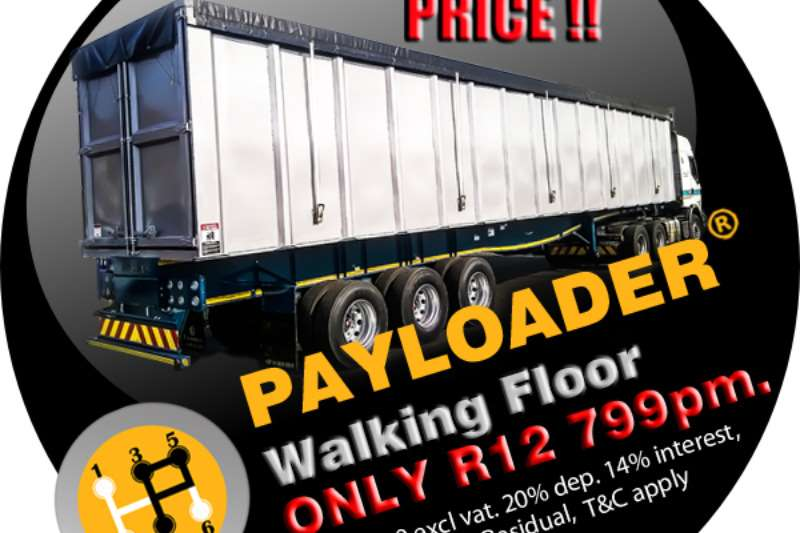 Payloader Flat deck NEW 2016 70 CUBE WALKING FLOOR Trailers