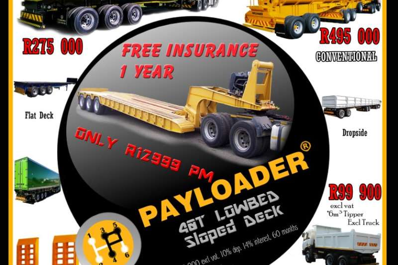 Payloader Lowbed 40T SLOPED DECK  LOW BED Trailers