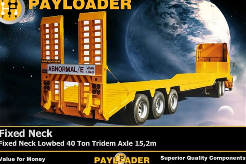 Payloader Lowbed Fixed Neck Lowbed 40 Ton  Trailers