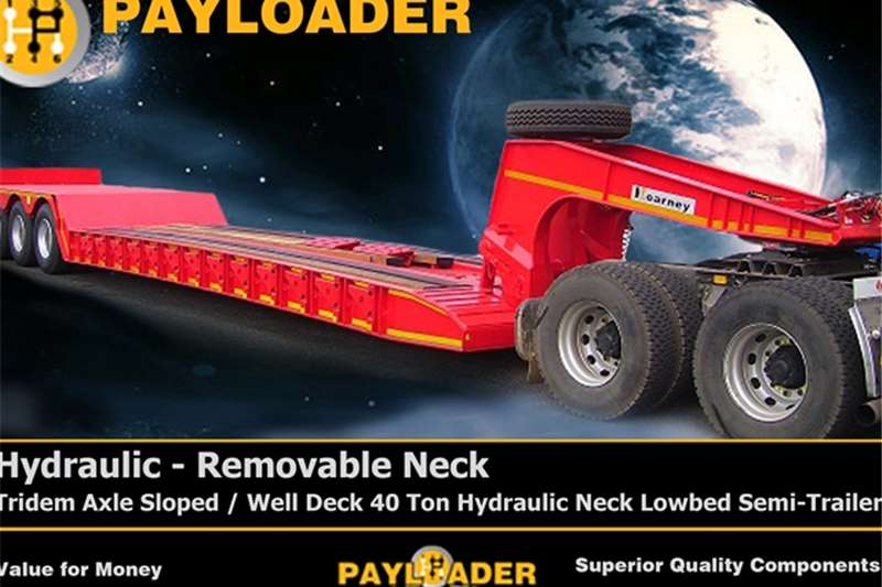 Payloader Lowbed Hydraulic - Removable Nec Trailers