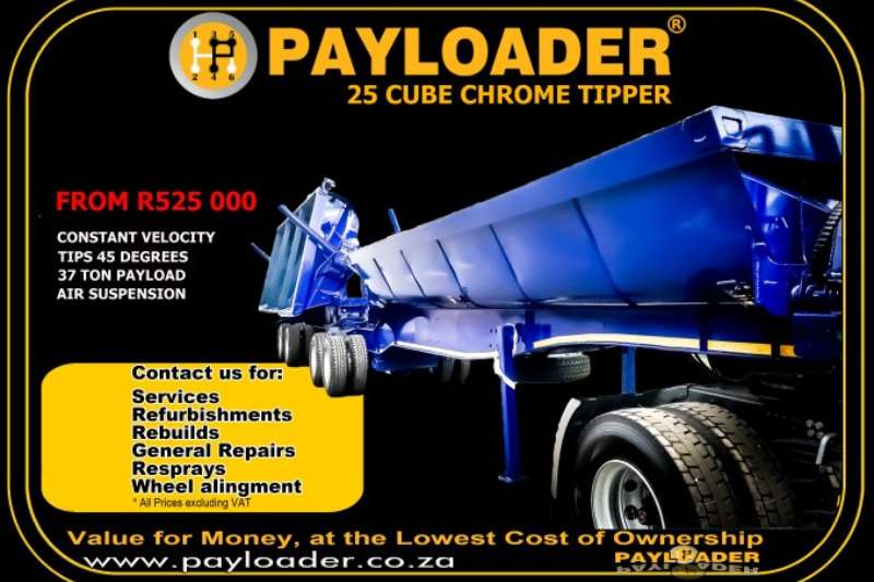 Payloader Side tipper 12,5/12,5 SIDE TIPPER LINK Trailers