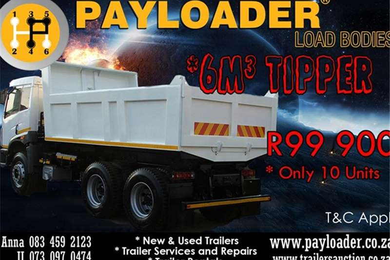 Payloader Tipping bulk trailer NEW 2016 6CUBE TIPPER Trailers