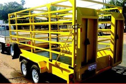 Platinum Forklift and Cattle Combi Trailers