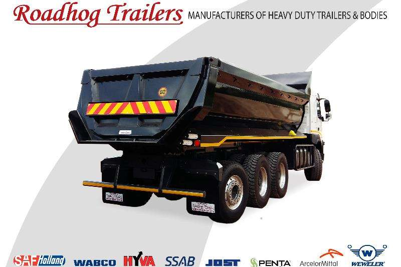 Roadhog End tipping 18 Cube Tipper Body Trailers